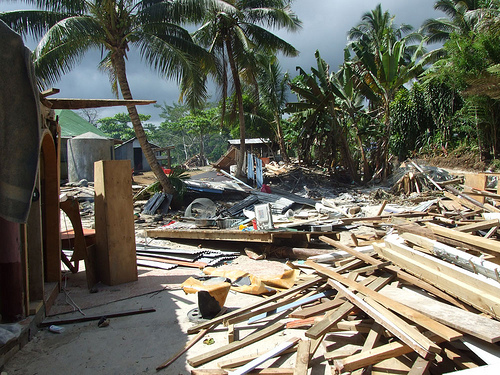 Damage from the September 2009 tsunami in Samoa
