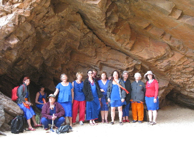 Brunswick Women's Choir members at Simpson's Gap 2009